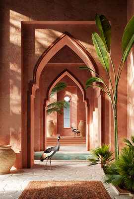 curated cactus artworks: Pink Palace by Massimo Colonna
