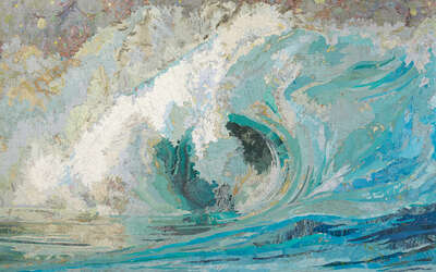 Impressionism Pictures: Fiona's Wave by Matthew Cusick