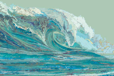 curated collage  artworks: Mylan's Wave by Matthew Cusick