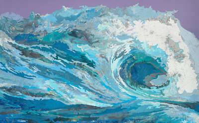 Curated selection of living room artworks: Clarissa's Wave by Matthew Cusick