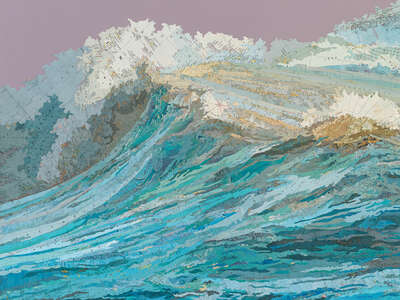 Beach wall art: Rachel's Wave by Matthew Cusick