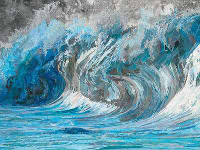 water art photography:  Genevieve´s Wave by Matthew Cusick