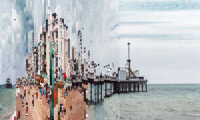 abstract beach art: Brighton I by Murat Germen