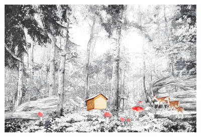 Farmhouse and Country Style Art: Black Forest by Malgosia Jankowska