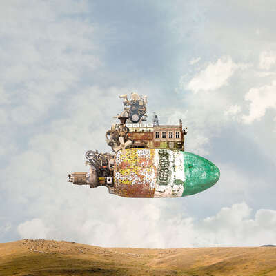 curated surreal collage artworks: Motorhome by Matthias Jung