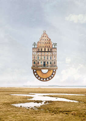 curated surreal collage artworks: Expedition Ostpol by Matthias Jung