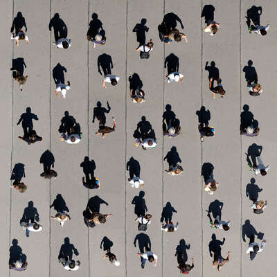 curated aerial photography : Pedestrians2 by Michael Michlmayr