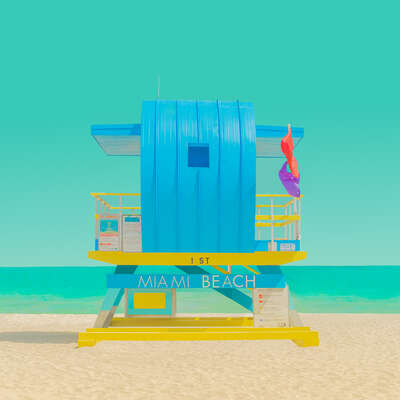 curated beach art: The Modern Paradise - Miami Beach 2 by Mijoo Kim & Minjin Kang