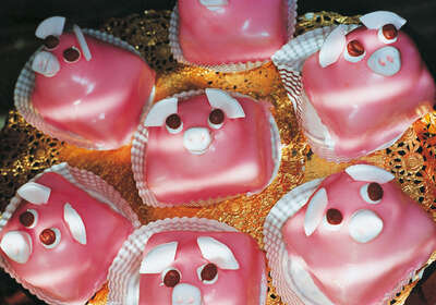 Pink Pig Cakes by Martin Parr