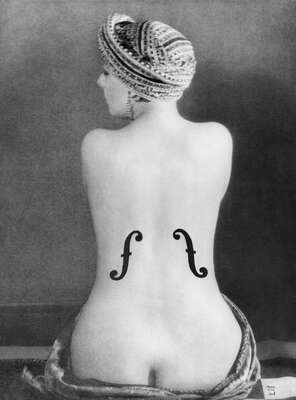 nude photography:  Le Violon d'Ingres, 1924 by Man Ray
