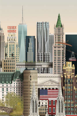 Abstract Architecture Prints: New York II by Martin Schwartz