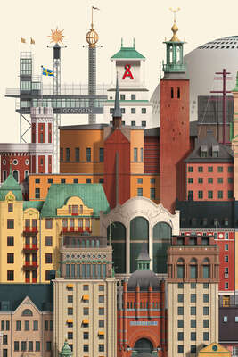 architecture photography:  Stockholm by Martin Schwartz