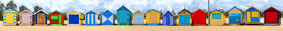 Brighton Beach Huts I by Michael Warrilow