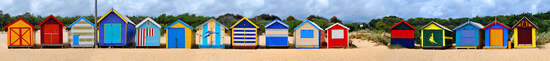 Brighton Beach Huts II von Michael Warrilow