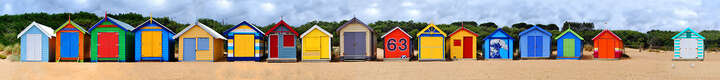 Brighton Beach Huts III von Michael Warrilow