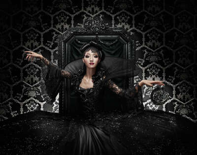 Fashion Wall Art:  Black Queen by Marcel Wanders