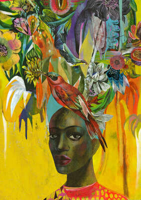 figurative art:  Antoinette Tropical by Olaf Hajek