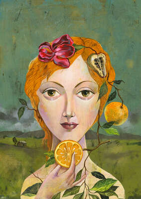 Abstrakte Kunst  Oranges are not the only Fruit de Olaf Hajek