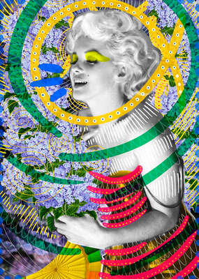 Marilyn Monroe Art: Kiss me now... by Peperina Magenta