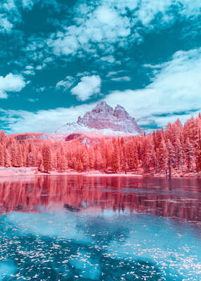 Abstract Landscape Prints: Infrared Dolomites I by Paolo Pettigiani