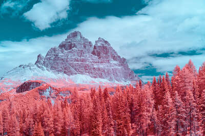 nature wall art and landscape prints  Infrared Dolomites II by Paolo Pettigiani