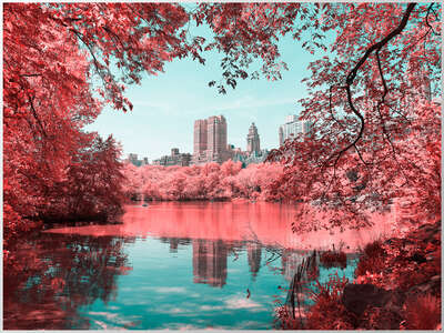 New York Bilder: Infrared NYC I von Paolo Pettigiani