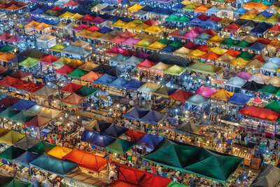 Abstract Photography: Bangkok Bazaar by Peter Stewart
