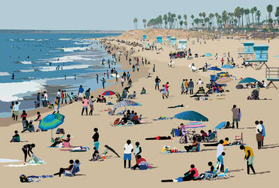 figurative art:  Beach Scene II by Patrick Tschudi