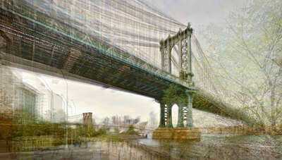 New York Bilder: Two bridges von Pep Ventosa