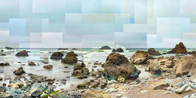 Beach wall art: Scotty Creek Beach by Pep Ventosa
