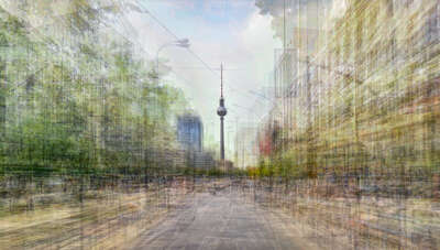 architecture photography:  Prenzlauer Allee, Berlin by Pep Ventosa