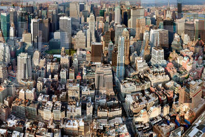 Manhattan from Above von Pep Ventosa