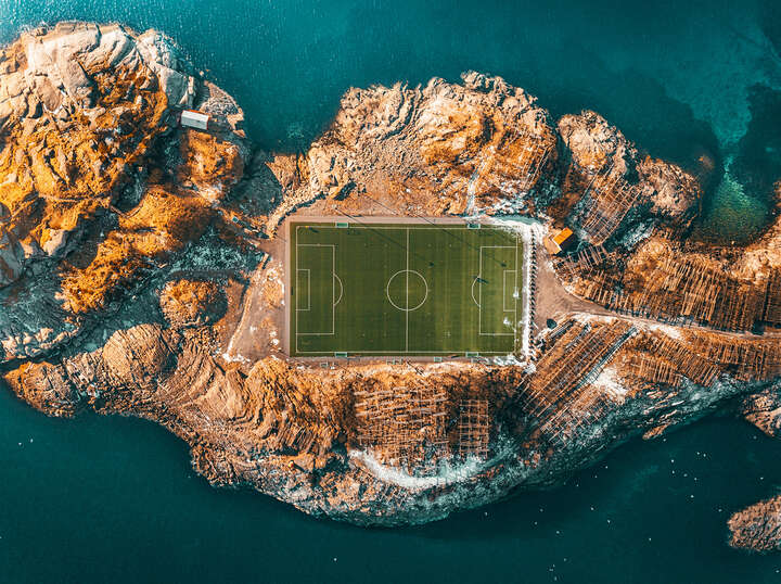Lofoten Soccer Field by Peter Yan