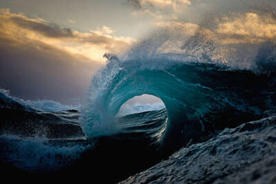 Curated blue artworks: Holocene by Ray Collins