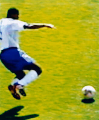 Marcel Desailly France v Denmark 0 - 2 (Group Stage) 11.06.2002, Incheon Munhak Stadium, Incheon, South Korea von Robert Davies
