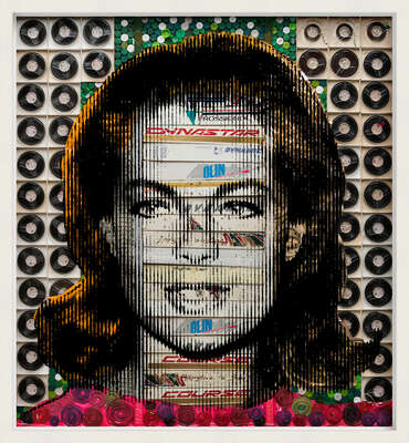 curated contemporary Pop Art artworks: Romy Schneider by Renaud Delorme