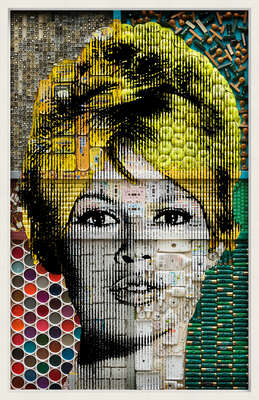 curated contemporary Pop Art artworks: Brigitte Bardot by Renaud Delorme