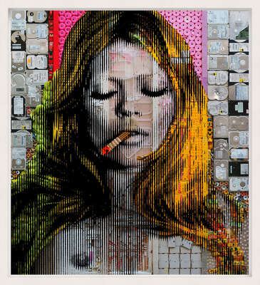 curated contemporary Pop Art artworks: Kate Moss by Renaud Delorme