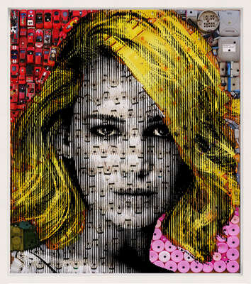 curated contemporary Pop Art artworks: Jennifer by Renaud Delorme