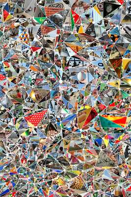curated photo collage artworks: Polka Dot Asterism by Ross Holden