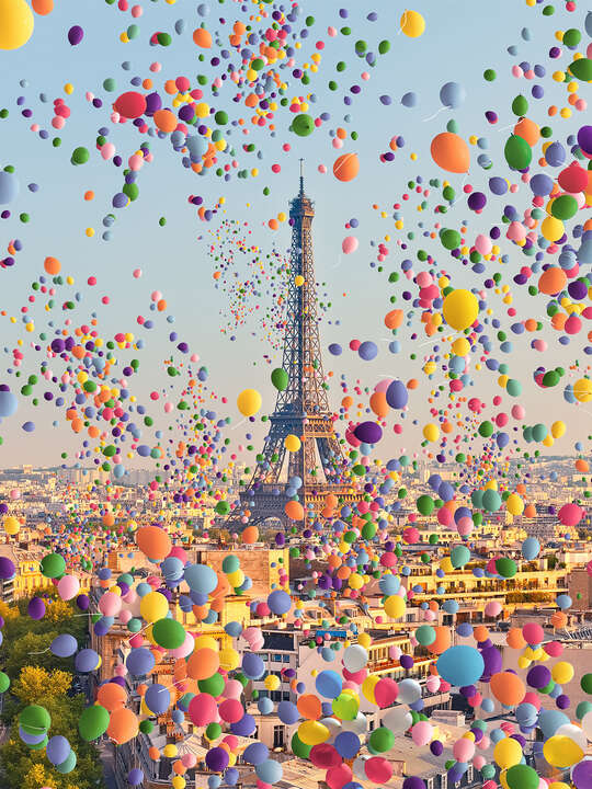 Paris Balloons I by Robert Jahns