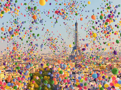 Paris Balloons II by Robert Jahns