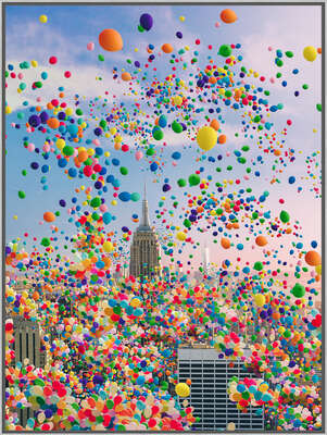 Framed wall Art Prints: the LUMAS ArtBox Frame: NYC Balloons by Robert Jahns