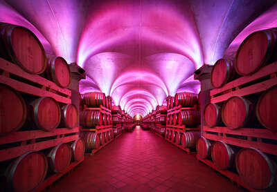 Curated pink artworks: Distillerie Berta, Piemont, Italy by Rafael Neff