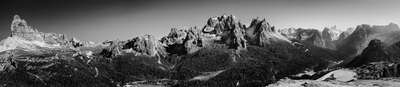 curated black and white art: Dolomiten by Rudolf Rother