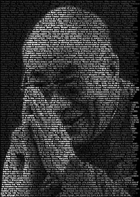 curated black and white art: Dalai Lama by Ralph Ueltzhoeffer