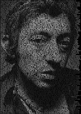 curated black and white art: Serge Gainsbourg by Ralph Ueltzhoeffer