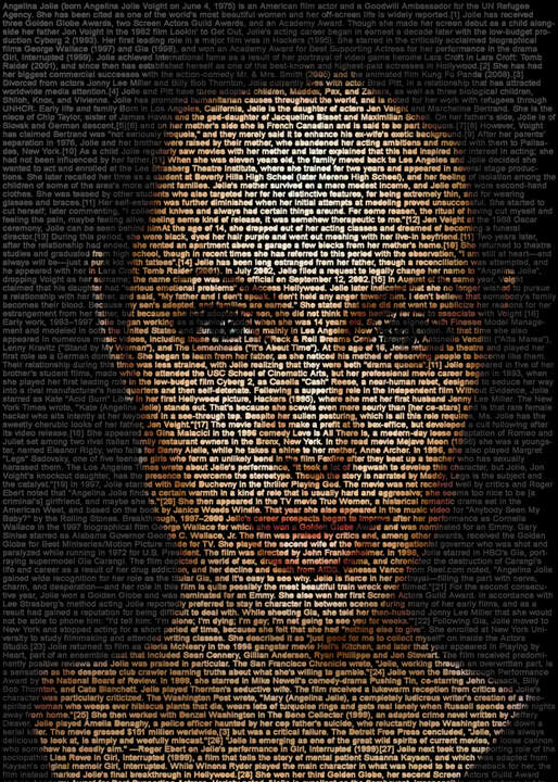 Angelina Jolie by Ralph Ueltzhoeffer