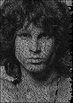 Celebrity Art:  Jim Morrison by Ralph Ueltzhoeffer