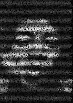 Celebrity Art:  Jimi Hendrix by Ralph Ueltzhoeffer